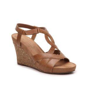 EUC Aerosoles Wonderplush Wedge Sandal